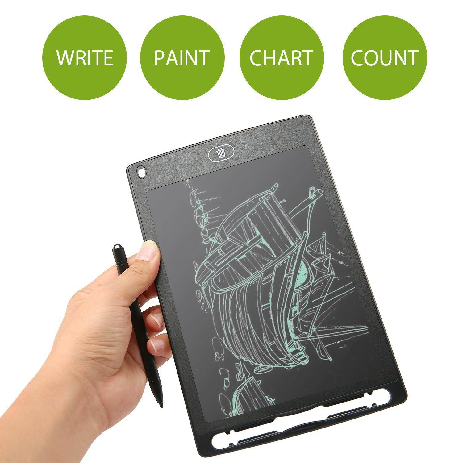 Vankel LCD Tablet, Portable Digital Tablet Tablet With Pen (8.5 Inches) - intl