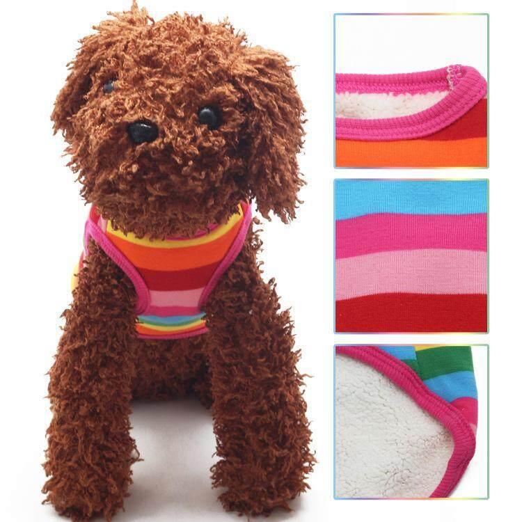 Peliharaan Anjing Pelangi Katun Rompi (M): Jual Beli Online Collars dengan Harga Murah-Internasional