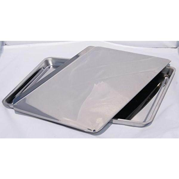 Stainless Steel Jellyroll Pan and Cookie Sheet For Baking Cookies, Jelly Rolls, and Bakery Goods , Combo Pack - intl