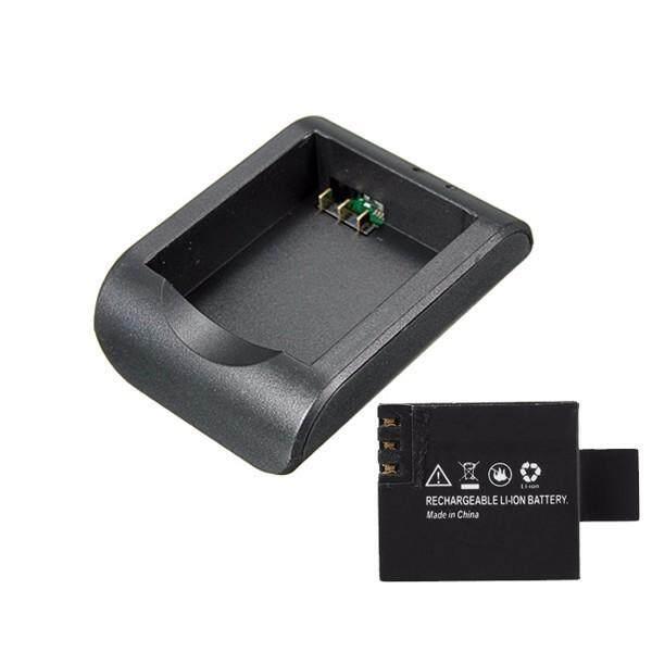 3.7 V 900 MAh Baterai Li-ion dan Rumah Baterai Perjalanan Keranjang Pengisi Daya Bantalan Pengisi Daya untuk Semua Kamera SJCAM SJ4000 SJ5000 M10
