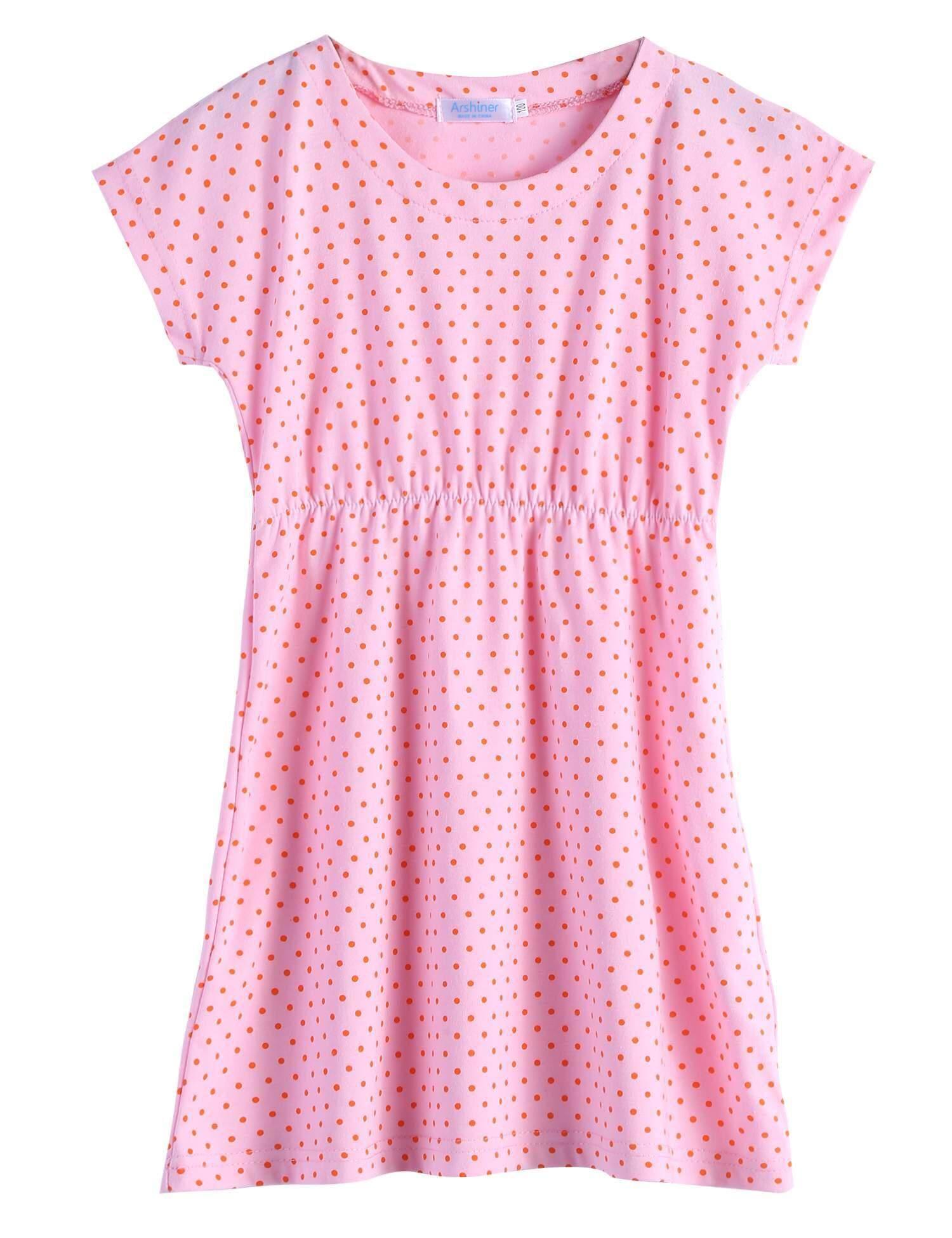 Clearance Penjualan Baru Anak Gadis Lengan Pendek Titik Lucu Gaun Mewah Gaun-Internasional
