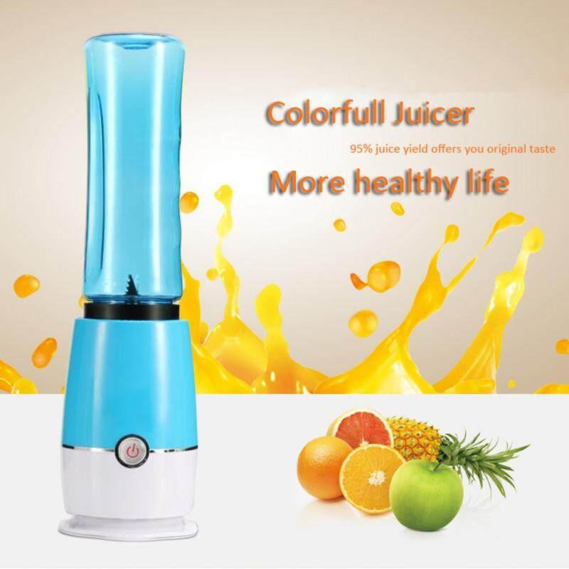Multi-function Fruit Juicer Home Electric Mini Juice Mixer Portable Juicer Bottle Blender /Blue
