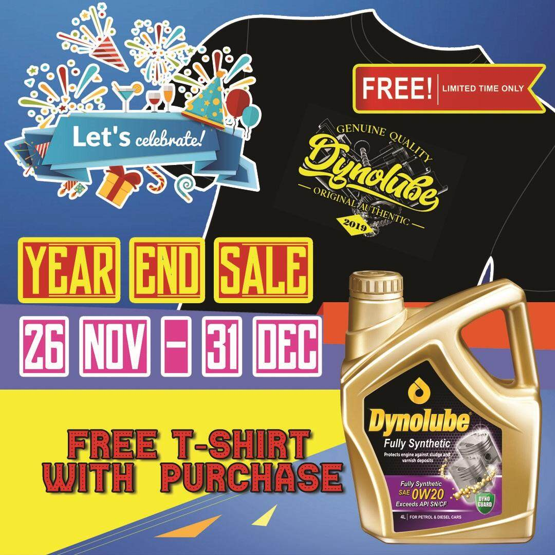 Dynolube 0W20 SN/CF Fully Synthetic 4Liter Engine Oil FREE 1 X T-Shirt (E)
