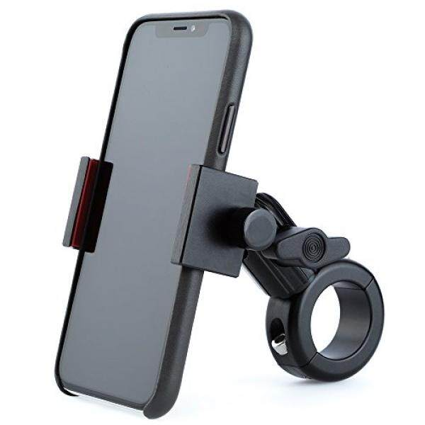 Metal Motorcycle Mount for Phone - Tackform [Enduro Series] - NO SLINGS NEEDED. Rock solid grip on any smartphone including regular and Plus sized iPhone and Samsung devices. Twist Locking Grip - intl