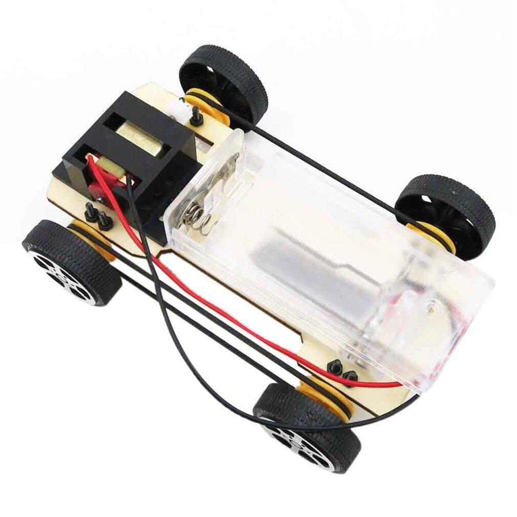 Hadiah DIY Mini Baterai Bertenaga Model Mobil Kayu Mainan Pendidikan Anak-anak Hadiah Burlywood-