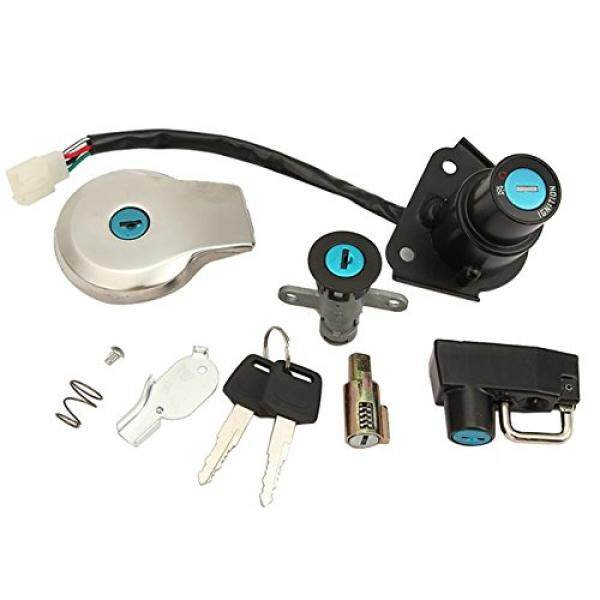 INNOGLOW Motorcycle Ignition Switch Fuel Gas Cap Lock Key Set Aluminum Seat Lock Fit For Yamaha Virago XV125 XV250 - intl