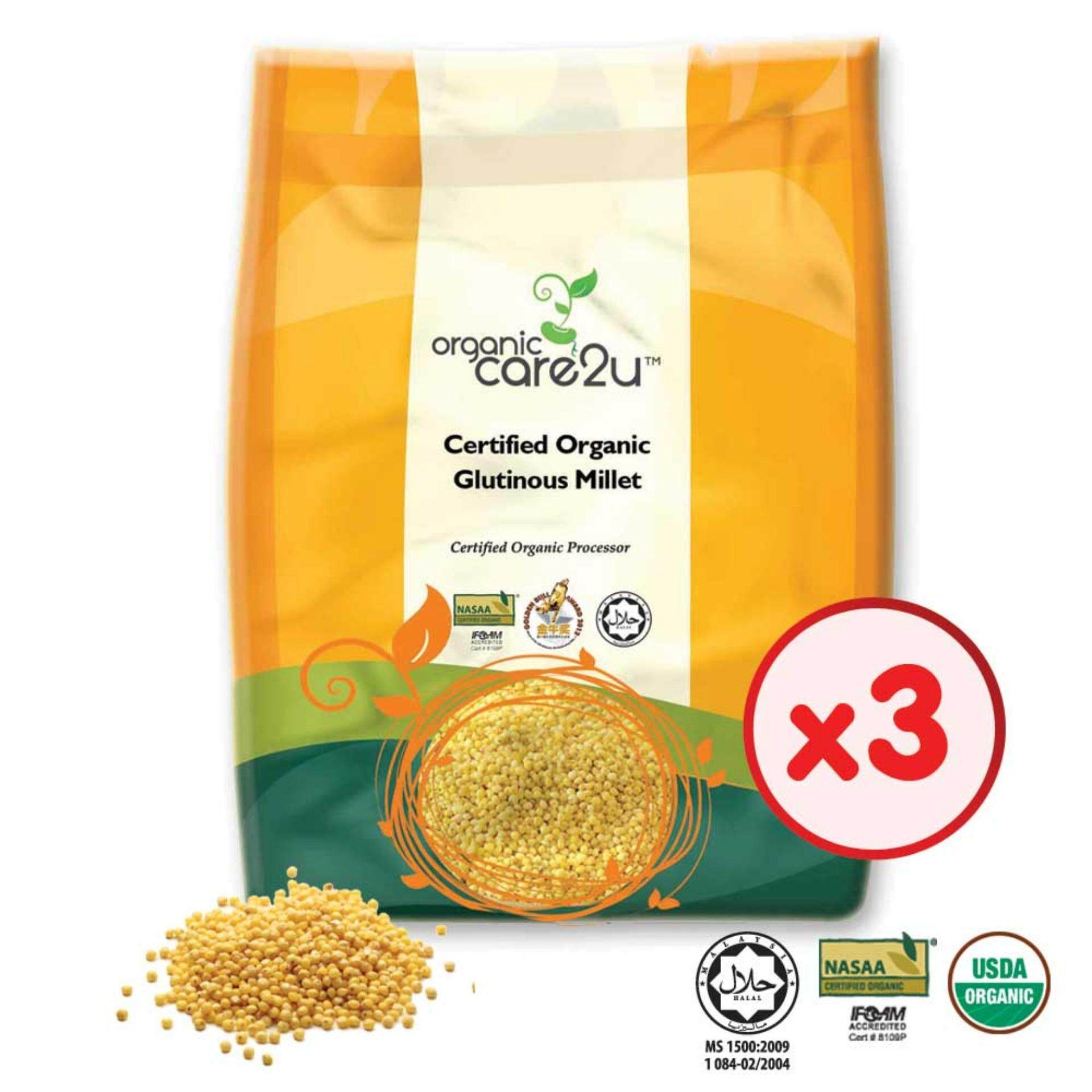 Organic Care2u Organic Glutinous Millet (400g) - [Bundle of 3]