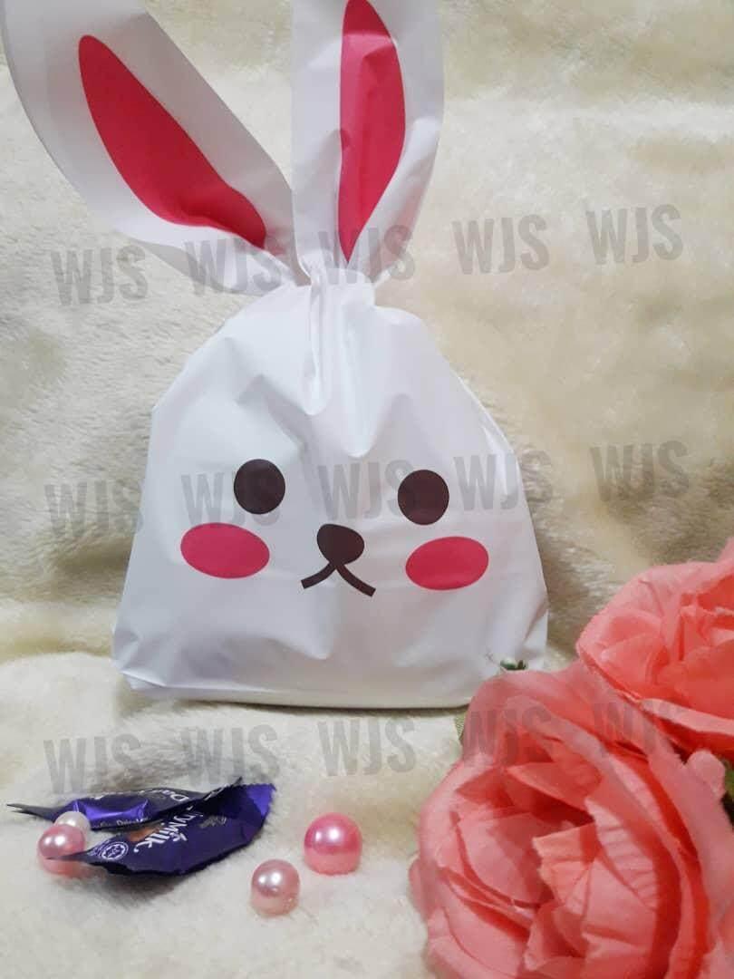 (MULTIPLE SIZES) WJS 50pcs 50 pcs Cute Rabbito Rabbit Emo Goodies Bag