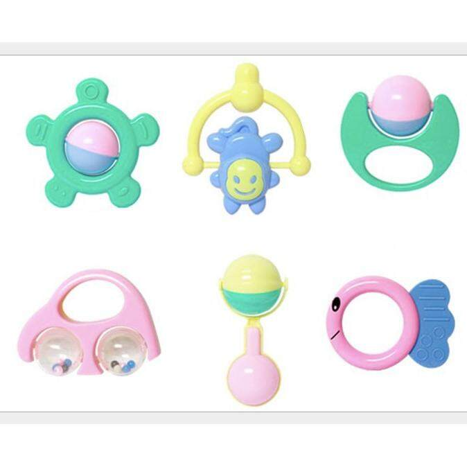 6PCS Baby Toys Set Rattles Early Learning - intl