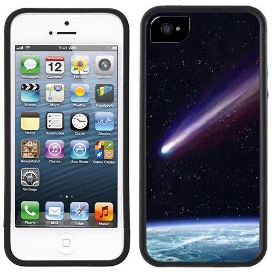 Komet Meteor Shooting Bintang Buatan Tangan iPhone 5 Hitam Bemper Plastik Case-Internasional