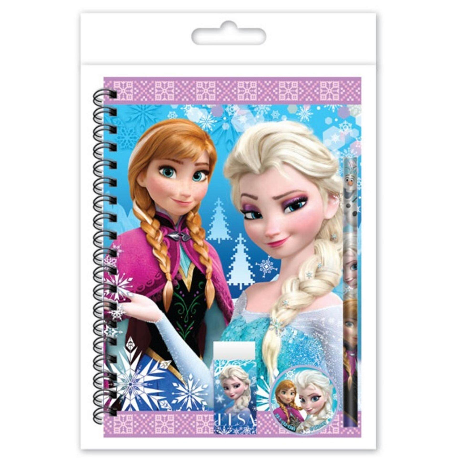 Disney Princess Frozen A5 Notebook Set - Blue Colour