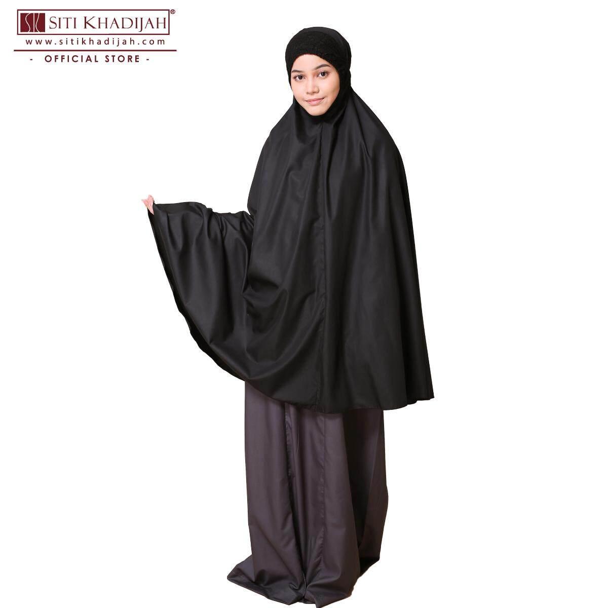 Telekung Siti Khadijah Klasik Daania (Black) (Top only)