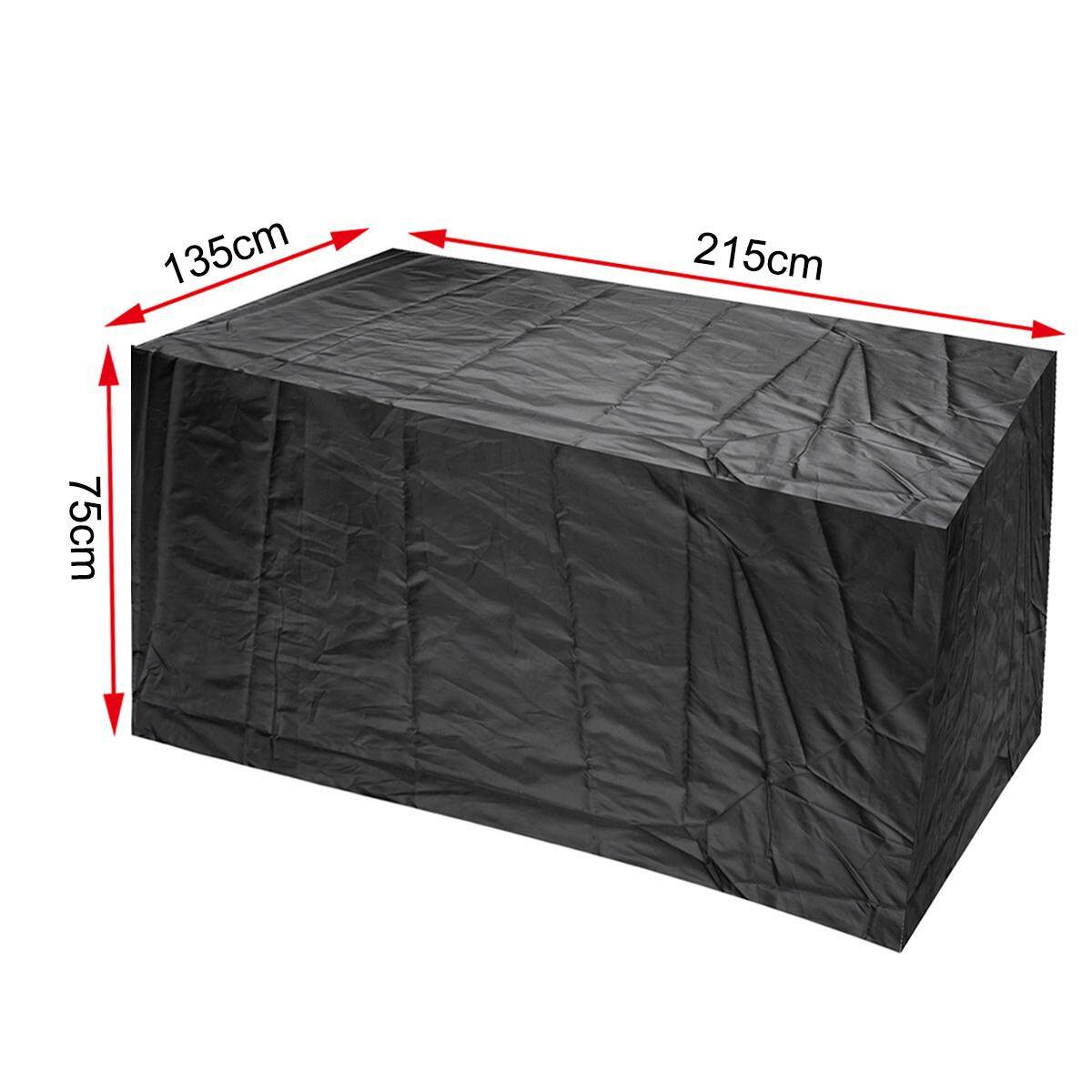 Outdoor Furniture Cover Waterproof Rectangular Table Protective Cover [215*135*75cm] - intl