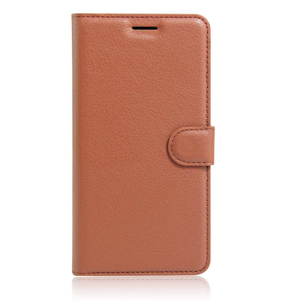 PU Leather Flip Cover Wallet Card Holder Case For Alcatel M POP / OT5020 - intl