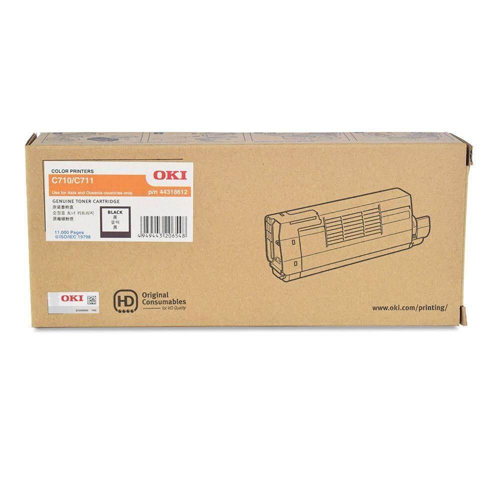 OKI C710/711 BLACK TONER 11k 44318612 (item no: OKI C711 BK)