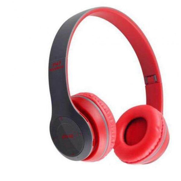 P47 Bluetooth 4.1 Headphone Wireless Headband Earphone RED