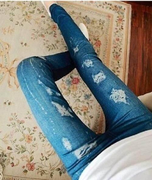 (Pre Order 14 DAYS) JYS Women Fashion Legging 114-767-N (Blue) ONE SIZE
