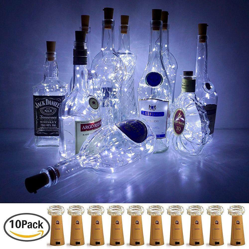 Top Rated Womdee 10 Pack Wine Bottle Lights Led Cork Silver Wire Colorful Fairy Mini String Lights For Diy Party Decor Christmas Wedding