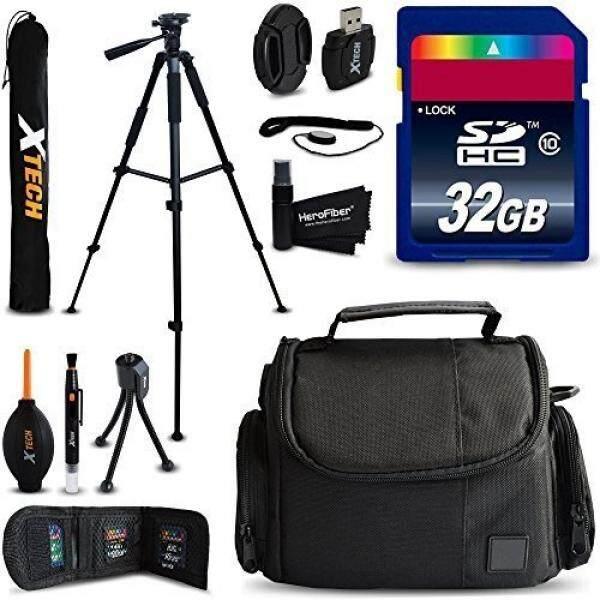 32 GB Aksesori Perlengkapan Untuk Nikon Coolpix A900, B700, B500, P900, L840, L830, L820, p610, P600, P520, L320, p7800 Kamera Digital Termasuk 32 GB Kecepatan Tinggi Kartu Memori + Pas Kasus + 60 Inch Tripod + Lebih-Internasional