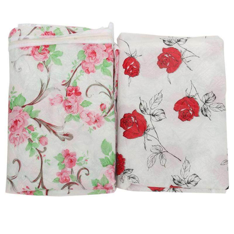 2pcs Waterproof Washing Machine Zippered Top Dust Cover Protection Top /Front Cover Red+pink - intl