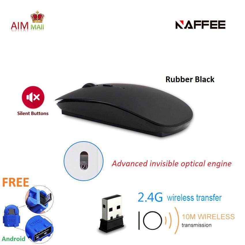 NAFFEE R8 2.4G Wireless Advanced invisible optical and silent buttons mouse Malaysia