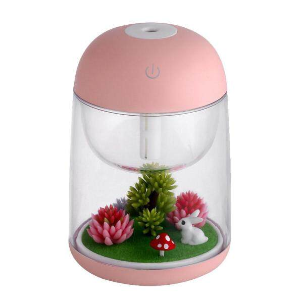 leegoal Aromatherapy Micro-Landscape Humidifier USB Essential Oil Diffuser, Aolvo 180ml Ultrasonic Waterless Auto Shut-Off, Whisper Quiet Humidifier Nightlight [Colorful Lights ,2 Timer Settings] Pink Singapore