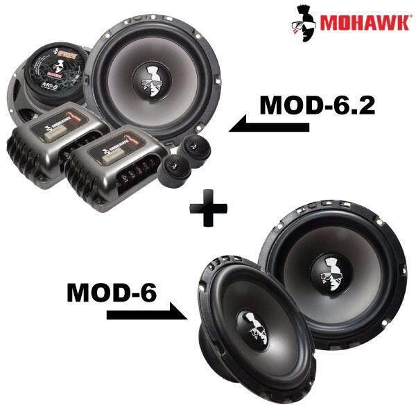 """2in1 Package - MOHAWK DIAMOND MOD-6.2 6.5"""" 2-Way Component Speaker + MOD-6 6.5"""" Mid Bass Speaker Set"""