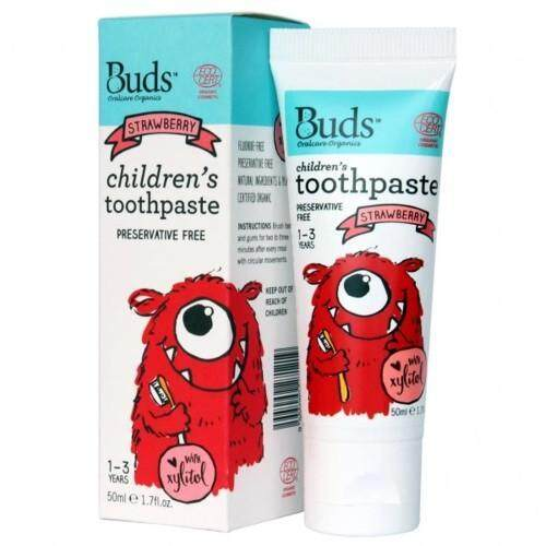 Buds Oralcare Organics: Children's Toothpaste With Xylitol 50ml (1-3yrs old)
