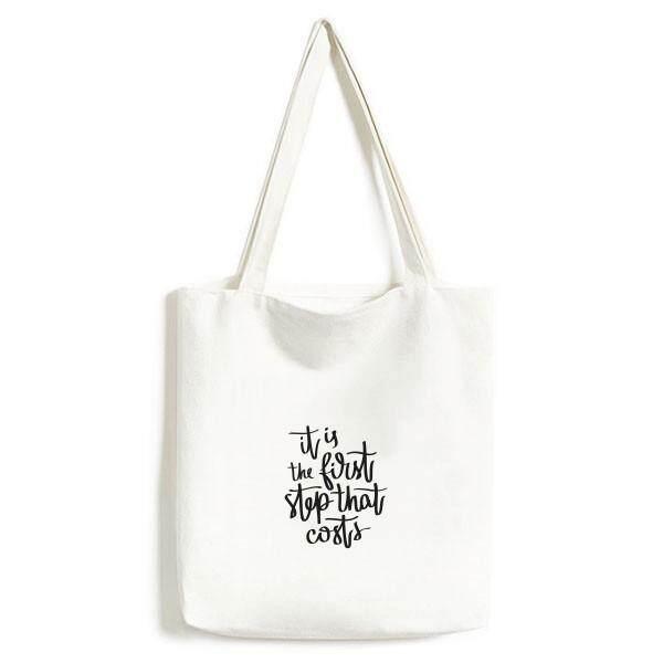 Ini Adalah Langkah Pertama Yang Harganya Quote Lingkungan Bisa Dicuci Belanja Tote Tas Kanvas Ketrampilan Hadiah-Internasional