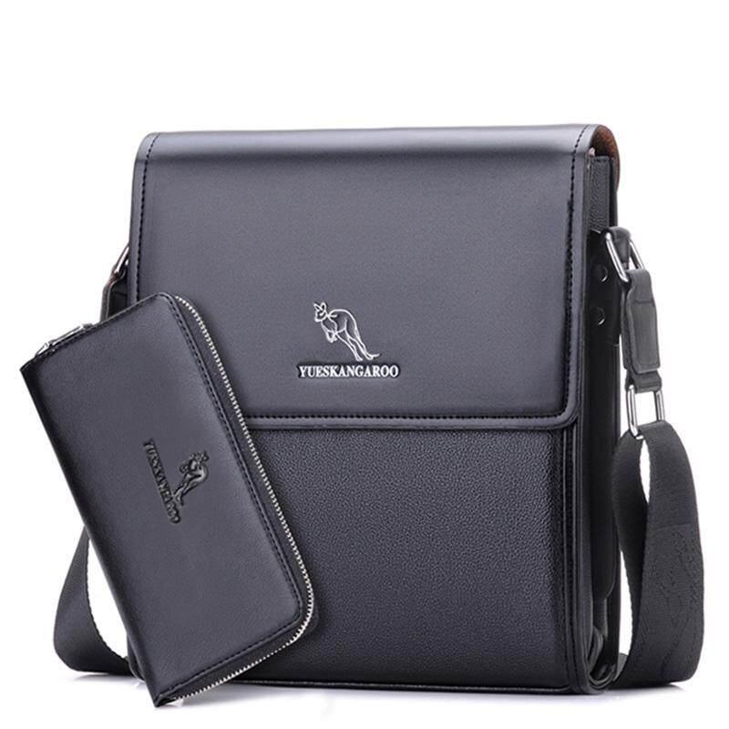 ... Zzooi Merek Pria Kurir Tas Pria Kulit Bahu Tas Baru Bisnis Kasual  Selempang Tas untuk iPad d37621fbd1