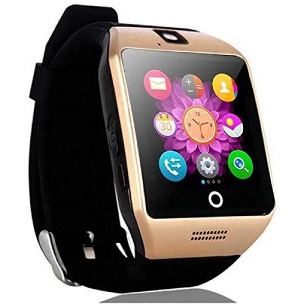 Layar Sentuh Smartwatch Gelang Tangan Bluetooth Pedometer Pelacak Kebugaran Nirkabel Jam Tangan Monitor Tidur untuk Android Handphone Samsung GALAXY Catatan 5 4 S8 S7 S6 HTC Huawei LG ZTE pria Wanita Anak Laki-laki (Emas) -Intl