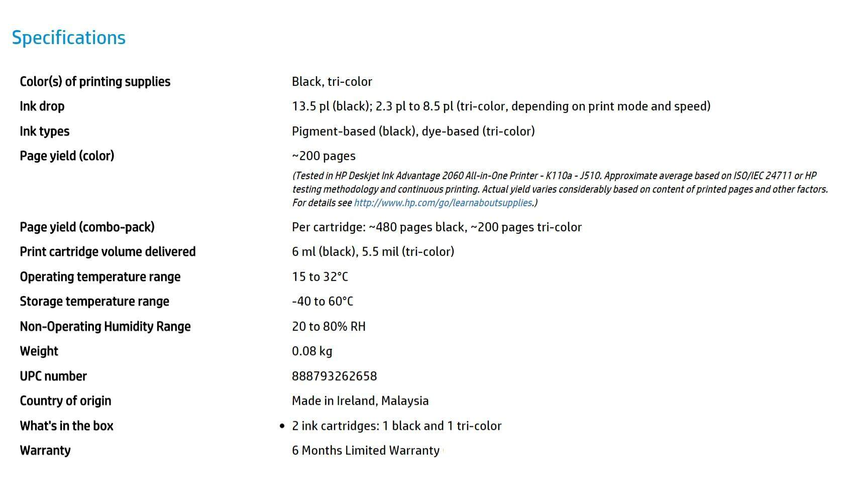 Hp 704 2 Pack Black Tri Color Original Ink Advantage Cartridges Malaysia 680 Cartridge Specifications Of