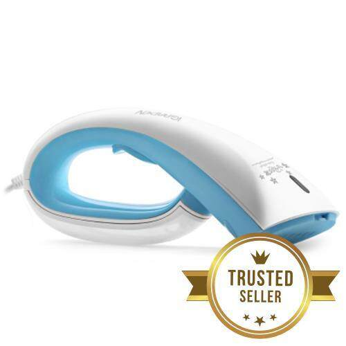 IGARDEN XG - AS02 HANDHELD GARMENT FABRIC VAPOR STEAMER CLEANER WITH CLEANING BRUSH (BLUE AND WHITE)