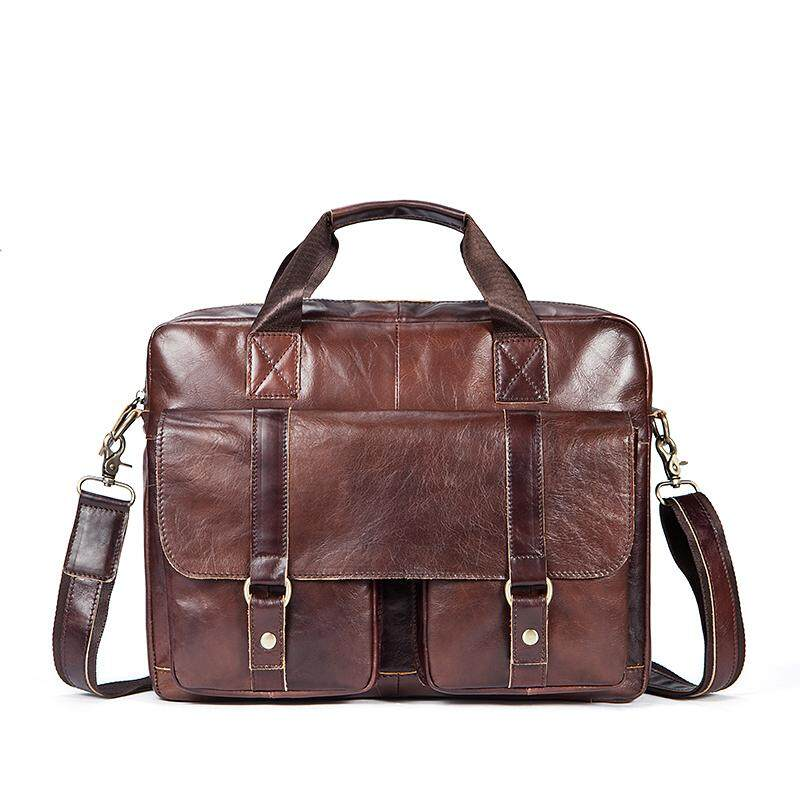 511859892442 Leather Handbags Tote Genuine Leather Shoulder Bags Business Briefcase Men  Bag