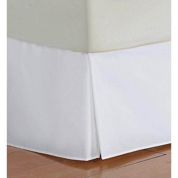 Vedanta Home Collection Hotel Quality 700-Thread-Count Egyptian Cotton King Size One Piece Split Corner Bed Skirt 12 Inch Drop Length White Solid - intl