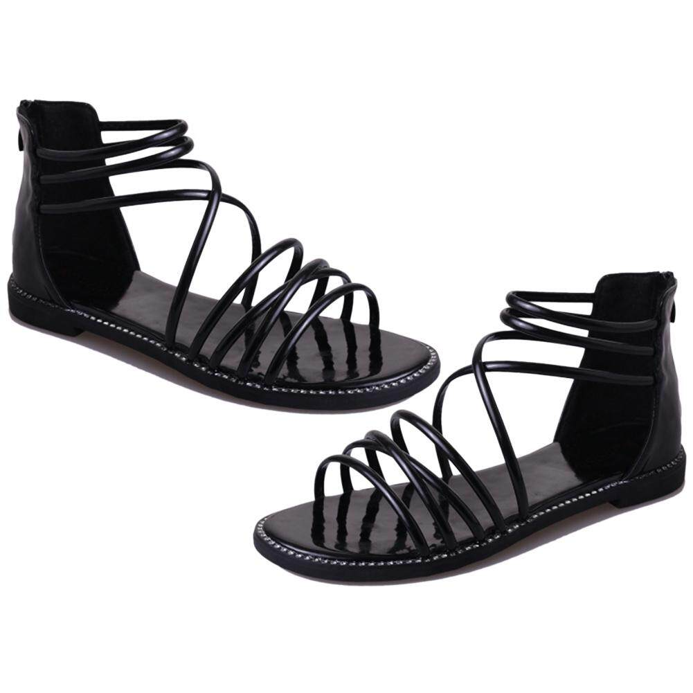 Sale Flat Sandals Women Summer Wild Fashion Strappy Flat Shoes Roman Sandals Intl Oem Cheap