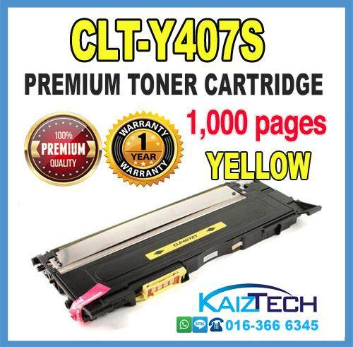 Samsung 407 / CLT-Y407S YELLOW Compatible High Quality Colour Laser Toner Cartridge For Samsung CLP - 320 / 320N / 321N / 325 / 325W / 326, CLX - 3180 / 3185 / 3185N / 3185FN / 3185FW Printer Toner