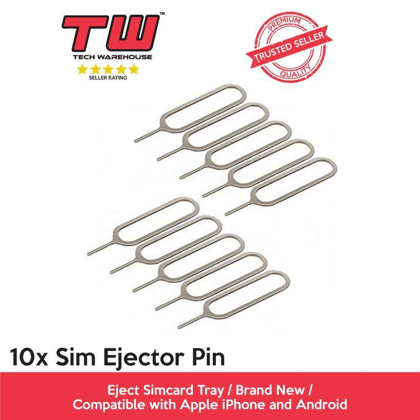 10x Sim Ejector Pin (compatible With Apple Iphone And Android) By Tech Warehouse.