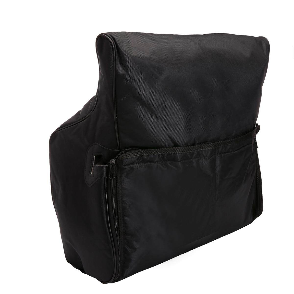 Thick Padded Accordion Gig Bag Case For Bass Piano Backpack Adjustable Strap 120 Bass By Moonbeam.