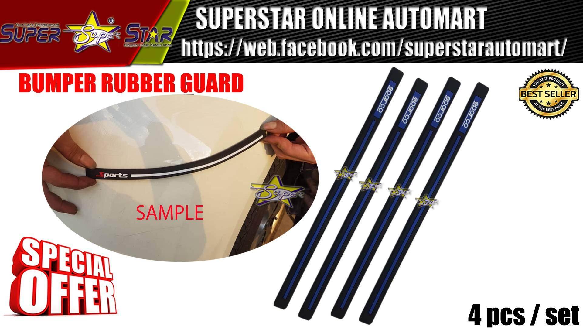 BUMPER RUBBER GUARD SPARCO (BLUE LINE)