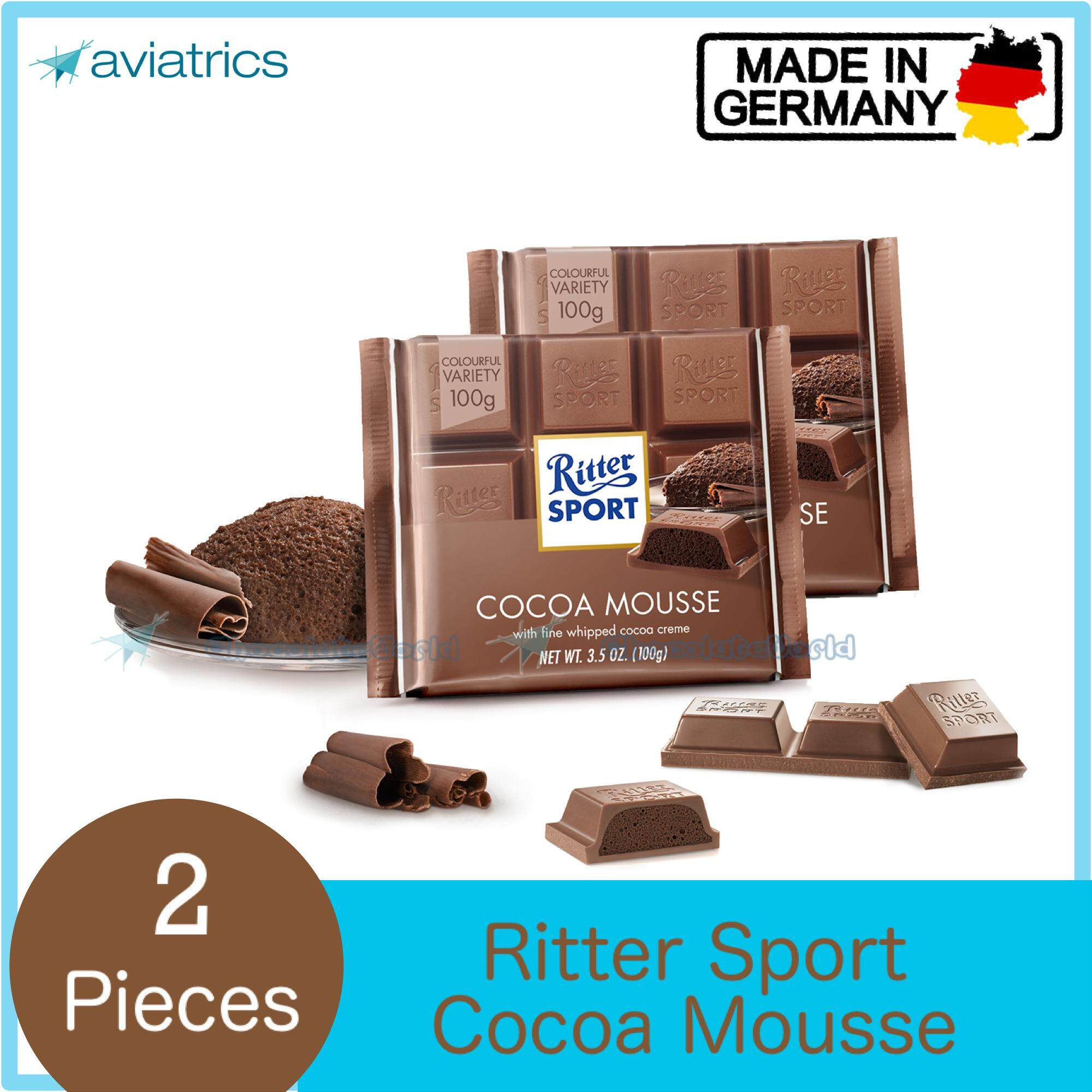 Ritter Sport Cocoa Mousse 100g X 2 (Made in Germany)