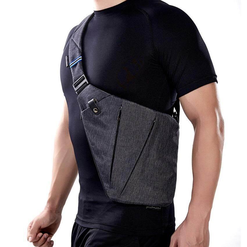 Compact Single Shoulder Bags For Men Waterproof Nylon Crossbody Male Messenger Bag Intl