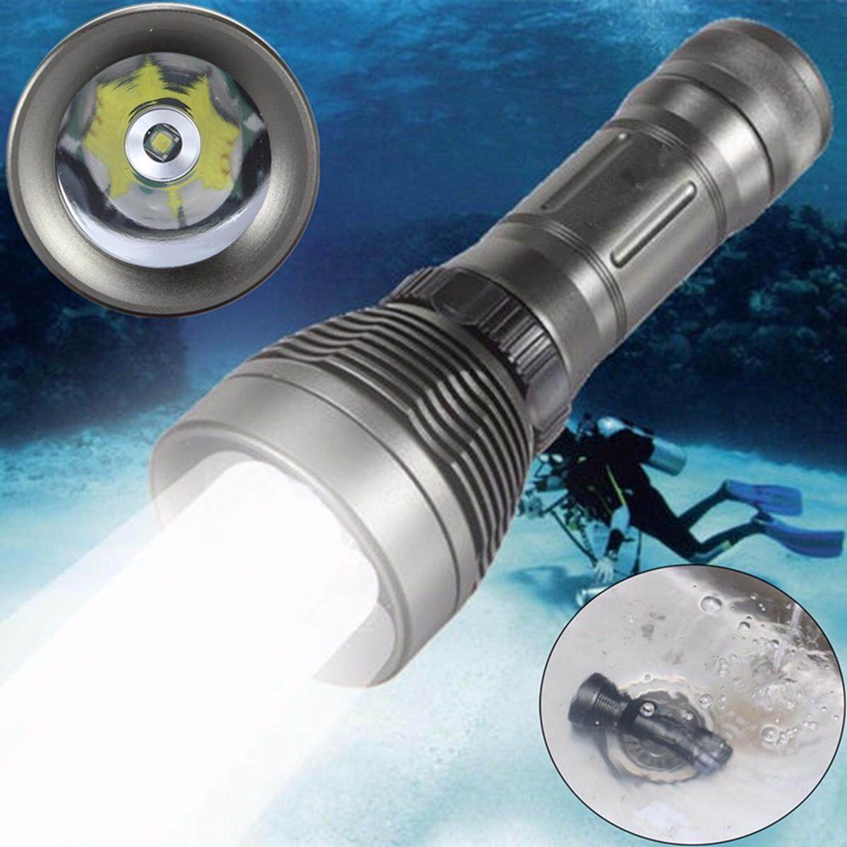 Elfeland Underwater Scuba 8000Lm T6 Led Diving Flashlight 26650 Lamp Light Intl Compare Prices
