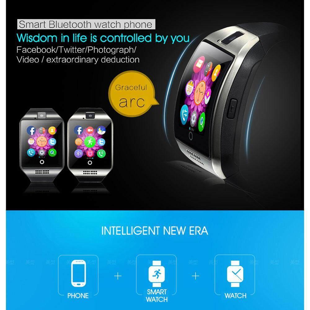 Gambar Produk Rinci Niceeshop Bluetooth Pintar Jam Tangan Q18 dengan Kamera Facebook WhatsApp Twitter Sinkronisasi SMS Jam Tangan Pintar Mendukung SIM TF ...