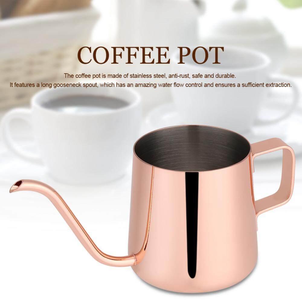 โปรโมชั่น Stainless Steel Drip Coffee Pot Long Gooseneck Spout Kettle Cup Tea Tool Rose Red 250Ml Intl จีน