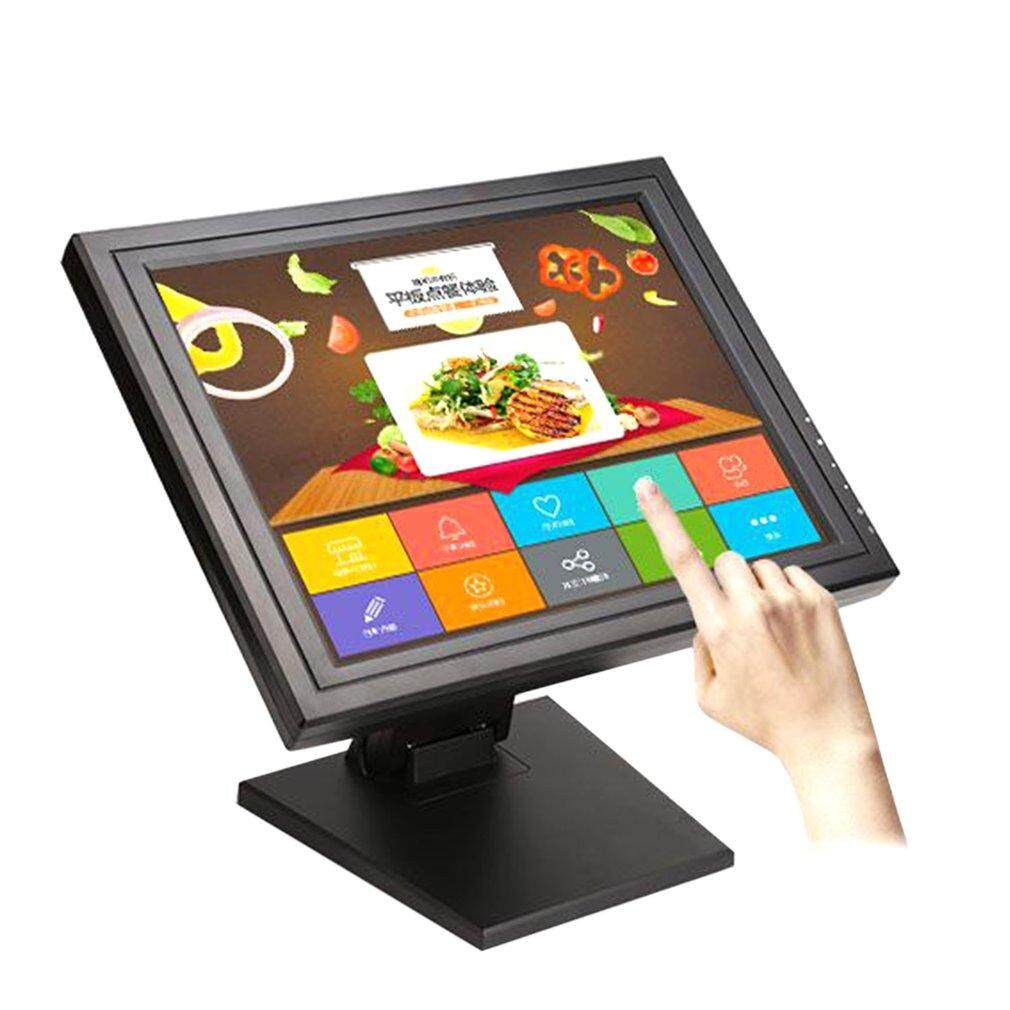 Ubest 17 Inch LED POS TFT LCD TouchScreen Monitor 1024X768 for Retail Restaurant Bar black AU plug - intl