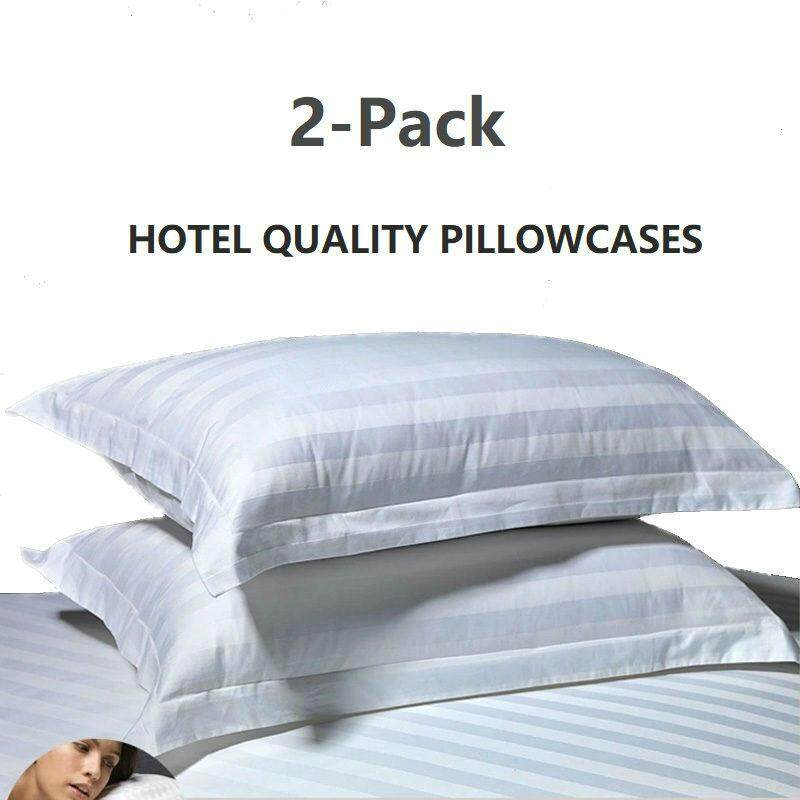Sheleep 2-Pack Pillowcase - Hotel Quality Sateen Weave Microfiber Pillow Cover - Wrinkle, Fade, Stain Resistant - Hypoallergenic By Fashion District.