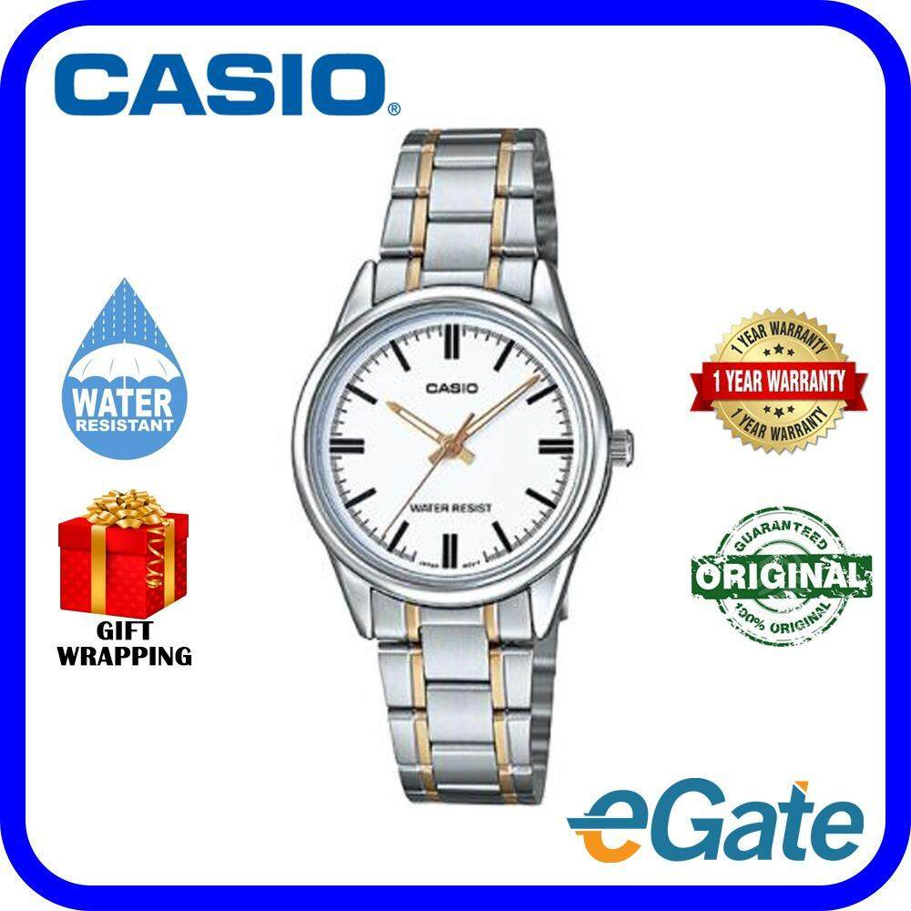 Fitur Casio Ltp 1410d 7a Analog Women Watch Silver White Original Couple Mtp Dan 1183e 7adf Jam Tangan Black Strap Leather V005sg Timepieces Casual