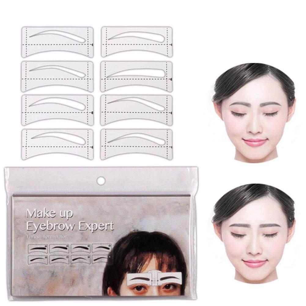 32 Pcs/Set Fashion Eyebrow Template Stickers Makeup Eyebrow Stencils Drawing Card