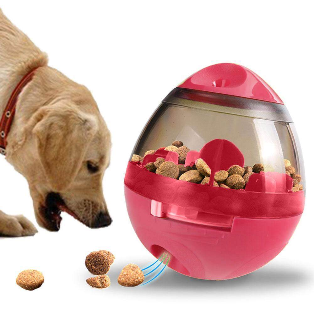 Aolvo Iq Treat Ball, Interactive Food Dispensing Dog Toy, Tumbler Food Feeder For Pet - Intl By Aolvo.